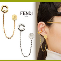FENDI Casual Style Unisex Blended Fabrics Street Style Chain