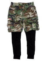 Denim & Supply Ralph Lauren Printed Pants Camouflage Sweat Cotton Khaki Cargo Shorts