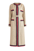 GUCCI Stripes Casual Style Street Style Long Oversized