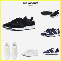 The kooples Suede Plain Leather Sneakers