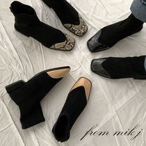 Square Toe Casual Style Suede Blended Fabrics Street Style