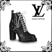 Louis Vuitton MONOGRAM Monogram Plain Toe Blended Fabrics Bi-color Leather