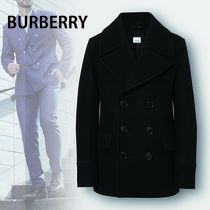 Burberry Other Check Patterns Wool Nylon Plain Peacoats Coats