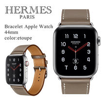 HERMES Unisex Leather Office Style Elegant Style Watches