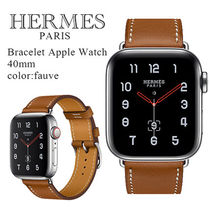 HERMES Casual Style Unisex Leather Office Style Elegant Style