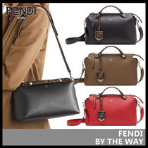 FENDI BY THE WAY Leather Elegant Style Shoulder Bags