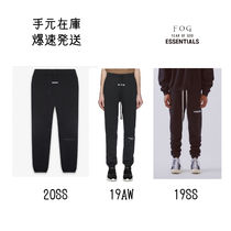 FEAR OF GOD ESSENTIALS Unisex Sweat Street Style Plain Oversized Logo Pants