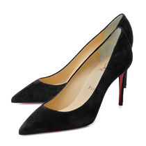 Christian Louboutin Suede Plain Leather Pin Heels Pointed Toe Pumps & Mules