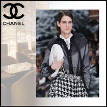 CHANEL Silk Long Sleeves Party Style Elegant Style Shirts & Blouses