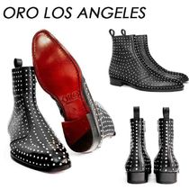 ORO LOS ANGELES Suede Studded Street Style Boots