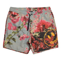 drew house Flower Patterns Unisex Street Style Beachwear