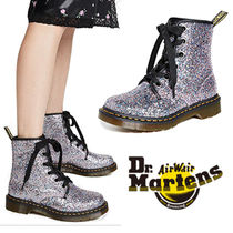 Dr Martens 1460 Round Toe Rubber Sole Lace-up Casual Style Lace-up Boots