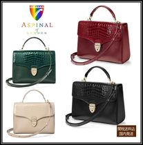 Aspinal of London 2WAY Plain Leather Party Style Elegant Style Shoulder Bags