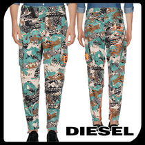 DIESEL Tapered Pants Street Style Cotton Tapered Pants
