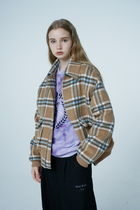 Wai Kei Short Other Plaid Patterns Casual Style Unisex Wool