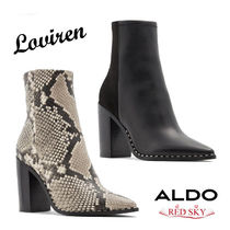 ALDO Casual Style Plain Other Animal Patterns Leather Block Heels