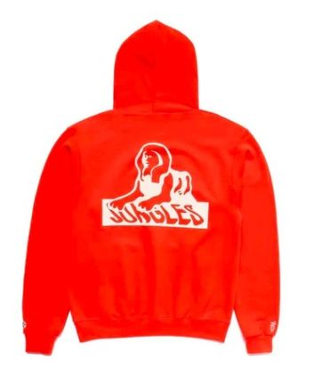 Street Style Collaboration Logo Skater Style Hoodies
