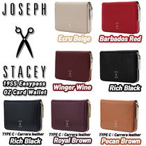 JOSEPH&STACEY Street Style Plain Leather Card Holders