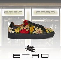 ETRO Flower Patterns Rubber Sole Casual Style Low-Top Sneakers