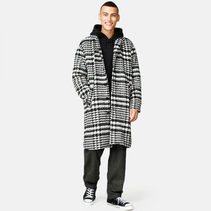 Zigzag Street Style Long Chester Coats