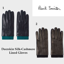 Paul Smith Plain Leather Leather & Faux Leather Gloves