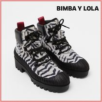bimba & lola Casual Style Suede Plain Other Animal Patterns