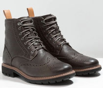 Clarks Wing Tip Plain Toe Mountain Boots Leather Outdoor Boots