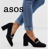 ASOS Casual Style Plain Block Heels Party Style Office Style