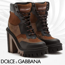 Dolce & Gabbana Platform Mountain Boots Rubber Sole Casual Style
