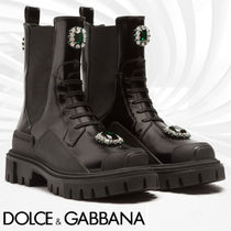 Dolce & Gabbana Platform Mountain Boots Rubber Sole Casual Style Leather