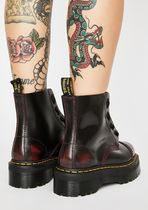 Dr Martens Platform Casual Style Plain Leather Ankle & Booties Boots