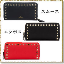 VALENTINO Unisex Plain Logo Long Wallets