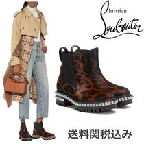 Christian Louboutin Other Animal Patterns Leather Chelsea Boots With Jewels