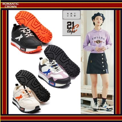 Unisex Street Style Collaboration Low-Top Sneakers