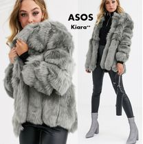ASOS Short Faux Fur Medium Cashmere & Fur Coats