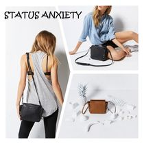 STATUS ANXIETY Fur Plain Leather Shoulder Bags