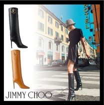 Jimmy Choo Casual Style Leather Elegant Style Over-the-Knee Boots