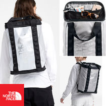 THE NORTH FACE Unisex Street Style A4 Plain PVC Clothing Backpacks