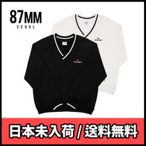 87MM Unisex Street Style Long Sleeves Knits & Sweaters