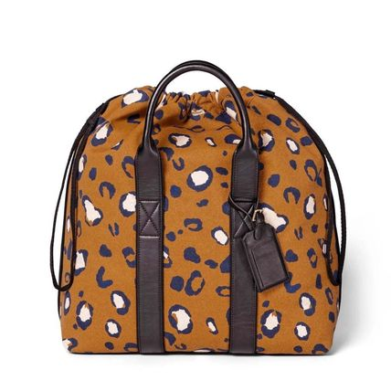 Leopard Patterns Casual Style Canvas 2WAY Totes