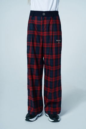 Wai Kei More Pants Other Plaid Patterns Casual Style Unisex Street Style