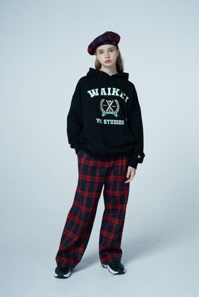 Wai Kei More Pants Other Plaid Patterns Casual Style Unisex Street Style 3