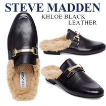 Steve Madden Faux Fur Plain Elegant Style Slip-On Shoes