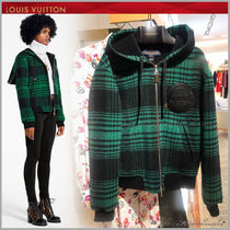 Louis Vuitton Short Other Check Patterns Casual Style Wool Street Style