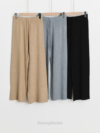 Casual Style Plain Long Culottes