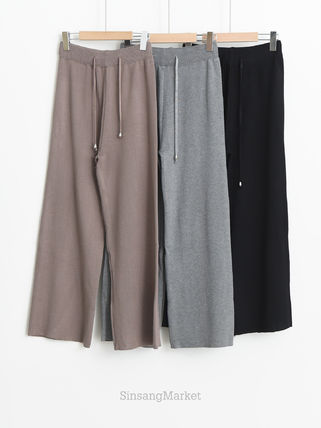 Casual Style Plain Long Formal Style  Culottes