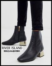 River Island Casual Style Bi-color Plain Block Heels