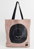Ron Herman Casual Style Unisex Street Style Collaboration Logo Totes