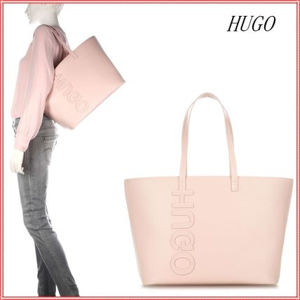 Casual Style Leather Totes