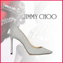 Jimmy Choo Plain Toe Casual Style Plain Leather Party Style